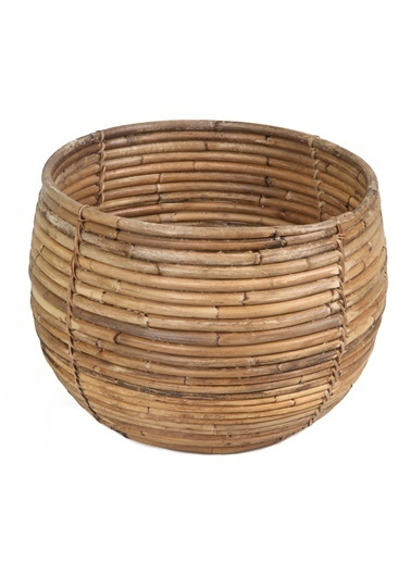 Kanca Ev Bambu Sepet & Saksılık Renkli
